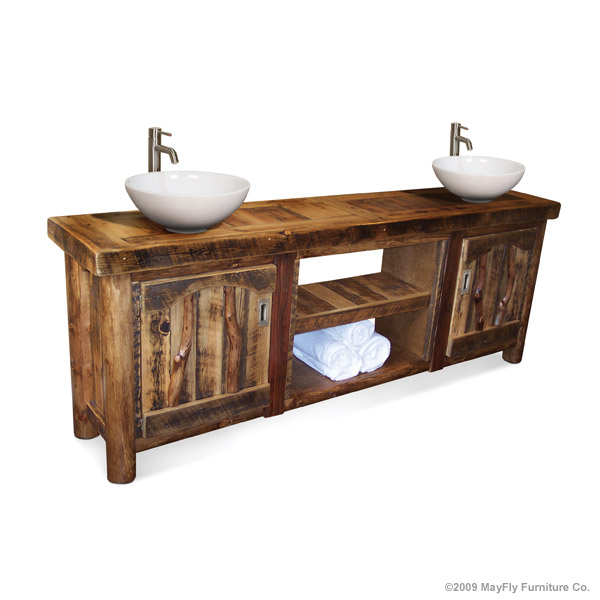 RUSTIC BATHROOM VANITIES - BARN WOOD FURNITURE-RUSTIC FURNITURE